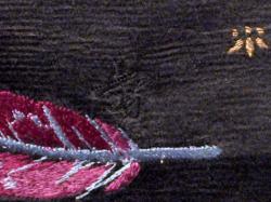 大正アンティーク 黒繻子に手刺繍の鷹柄 名古屋帯の落款(拡大)