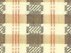 ミャンマー民族布祭礼用ロンジー 格子縞に絣文様(金) 名古屋帯の絣文様(拡大)