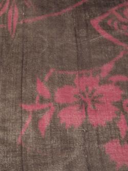 アンティーク 紗 銀通しに地紙文 小紋 単衣の文様アップ