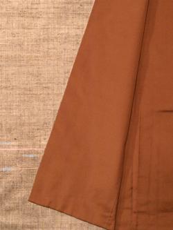 紬 真綿手紡ぎ糸 桑染地横絣文様袷の八掛け部分アップ