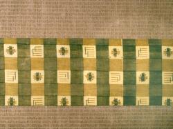 和更紗(明治) 格子縞に源氏香文 名古屋帯の前の柄